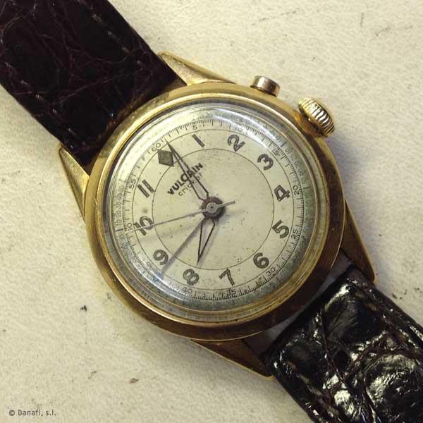 Vulcain Cricket-restauracion y reparación reloj Danafi