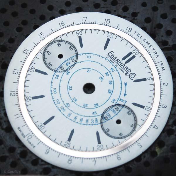 Eberhard and Cº esfera de reloj restaurada en Danafi