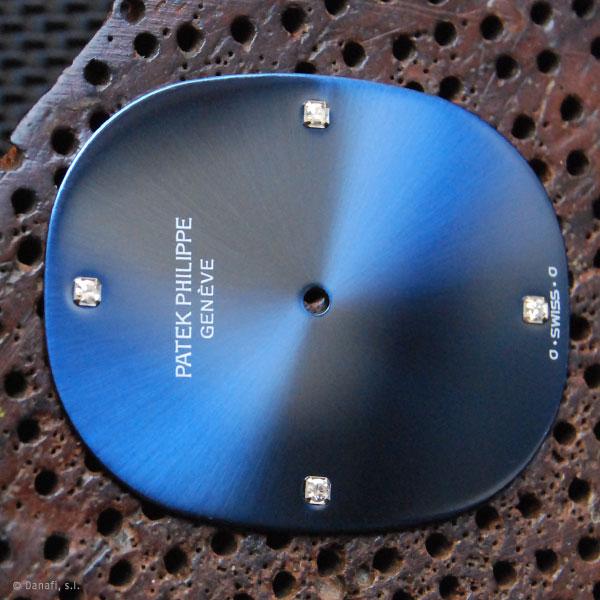 Esfera de reloj Patek Philippe restaurada en Danafi, Barcelona