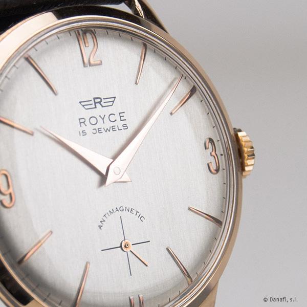 Restauración y reparación reloj Royce antimagnetic de cuerda manual y caja chapada en oro