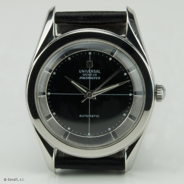 Universal Genève Polerouter Vintage restaurado esfera negra y luminiscencia_Danafi