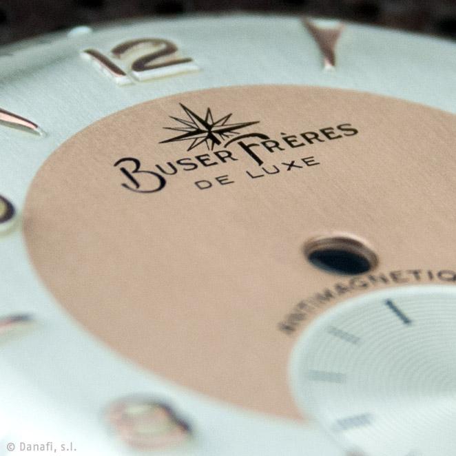 Restaurar y recuperar esfera, cuadrantede reloj Buser Freres reloj doble tono Danafi