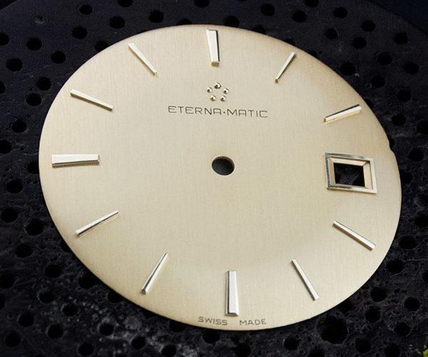 Restauración esfera de reloj Eterna-Matic.