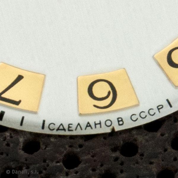 Restauración esfera de estampación reloj ruso