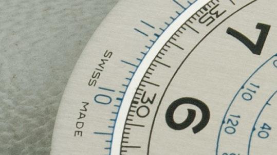 Coursier La Chaux-de-Fonds. Restauración esfera de reloj doble tono cronómetro