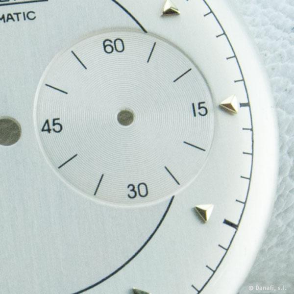 Jaeger-LeCoultre Futurematic restauración esfera de reloj doble tono