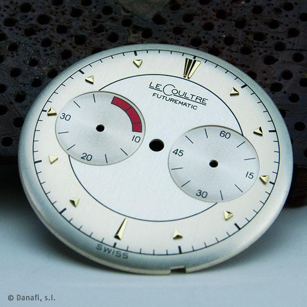 LeCoultre Futurematic restauración esfera de reloj doble tono