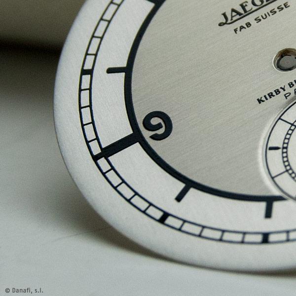 Restaurar esfera reloj Jaeger Fab Suisse Kirby Beard Cº Paris