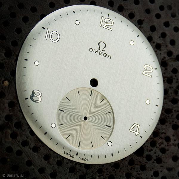 Restauración esfera de reloj Omega doble tono