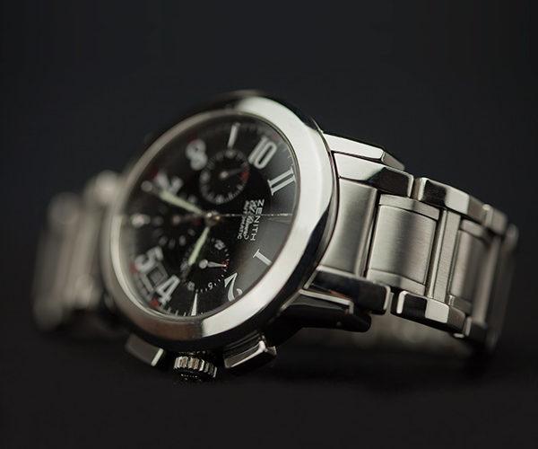 Restaurar, reparar y pulir caja y cadena armis de acero reloj Zenith El Primero