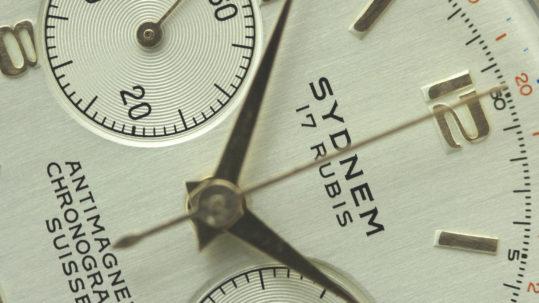 Restauración completa reloj cronómetro Sydnem 17 Rubis Antimagnetic Chronographe Suisse