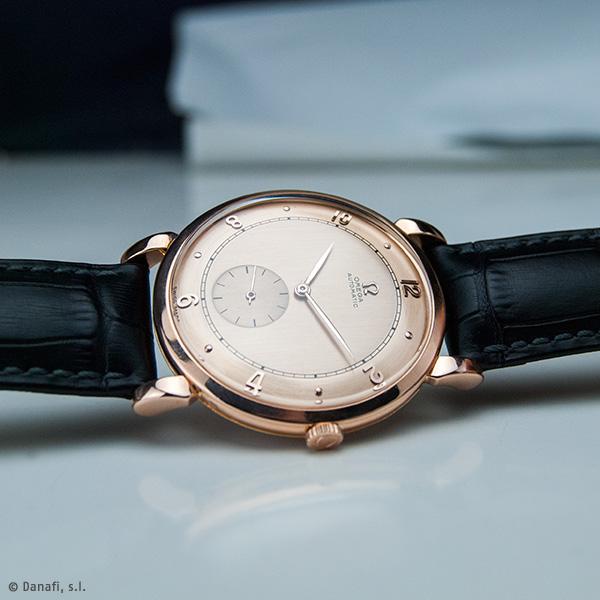 Restauración reloj Omega automatic oro rosado y esfera con doble tono