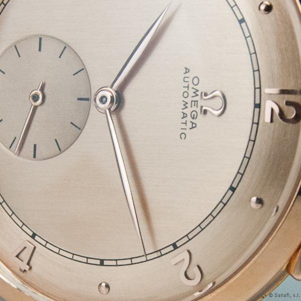Restauración esfera de reloj Omega automatic rosado y doble tono