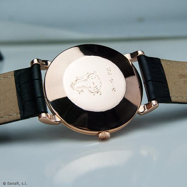 Restauración caja reloj Omega oro rosado