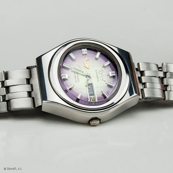 Reloj Ogival restaurar caja de acero. Automatic 25 Rubis Incabloc