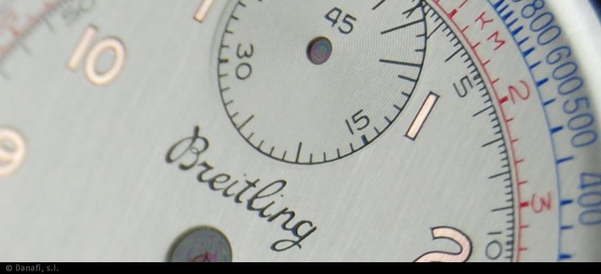 Restauración esfera de reloj plateado no numeración arábiga en doble tono. Reloj Cronómetro vintage