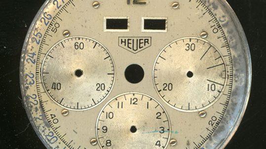 Restauración esfera de reloj Cronómetro Heuer