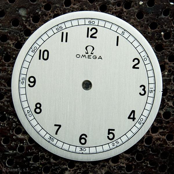 Omega restauración esfera reloj antiguo