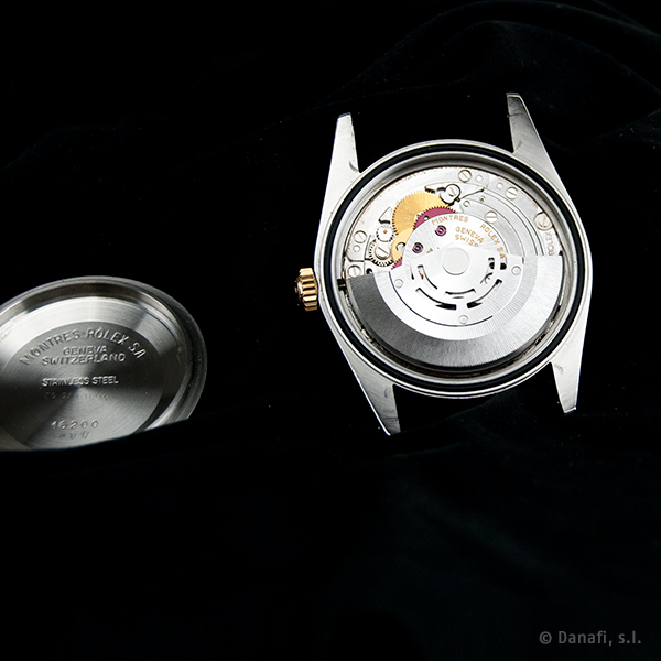 Reparación y restauración movimiento reloj Rolex cal. 3135 Danafi Barcelona