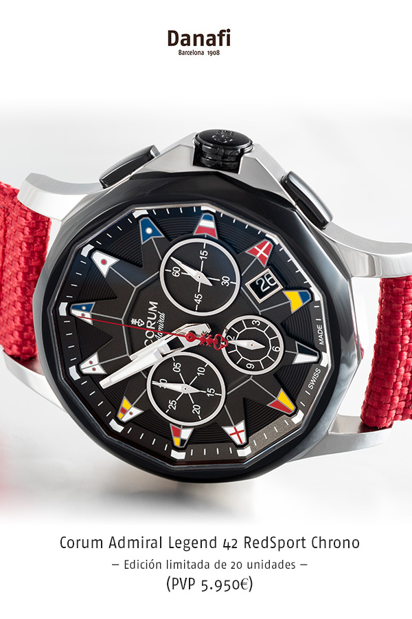 Corum Admiral Legend 42 RedSport Chrono — Edición limitada de 20 unidades — (PVP 5.950€)