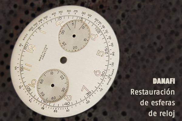 Danafi, restauración de esferas y diales de reloj. Taller de restauración de cuadrantes