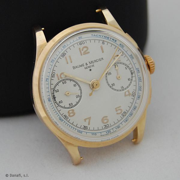Baume & Mercier restauración reloj cronometro Landeron