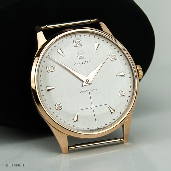Cyma, restauración y reparación reloj Cyma. restauración de cuadrante y dial