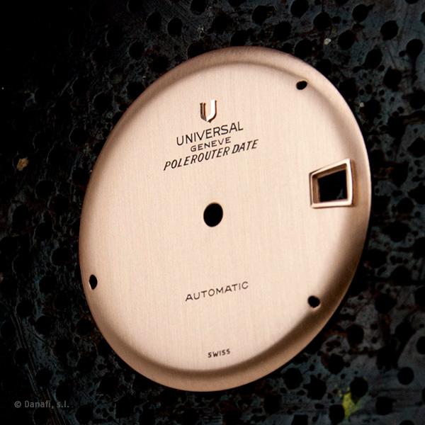 Universal Geneve Polerouter Date restauración esfera reloj