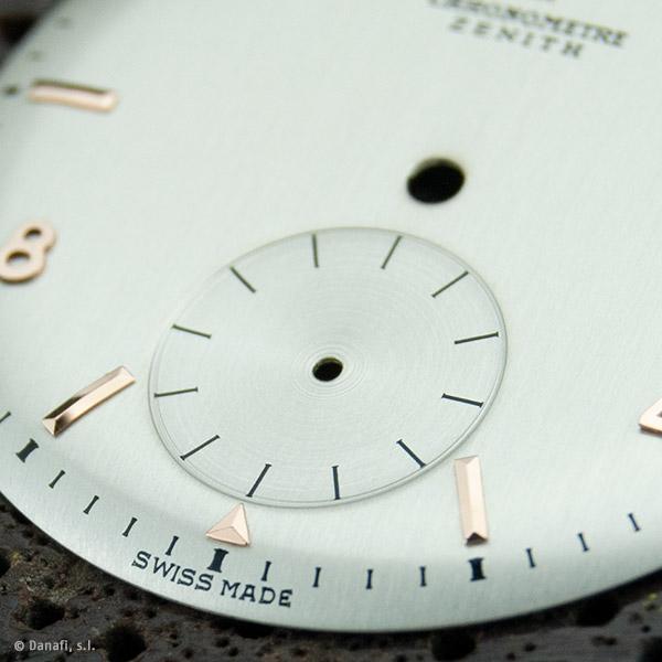 Zenith Chronometre dial restored by Danafi Barcelona