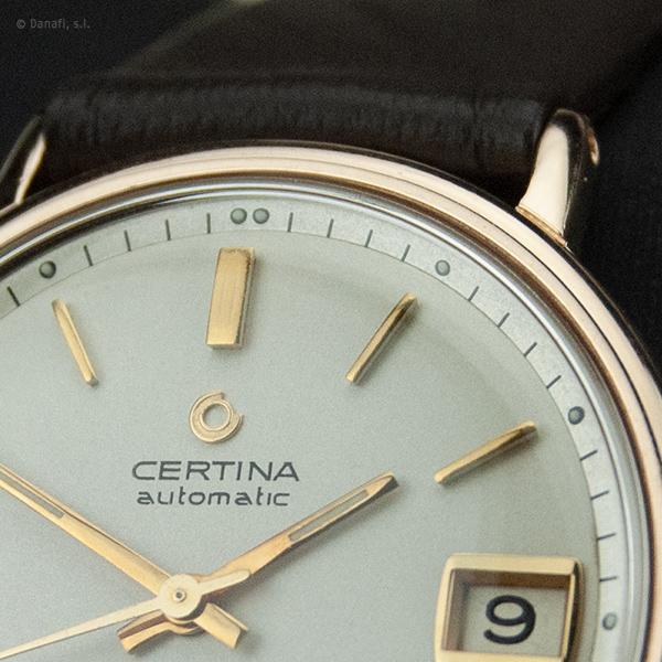 Certina Automatic Blue Ribbon. Restauración reloj chapado en oro