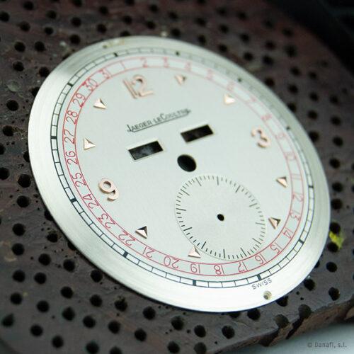 Jaeger LeCoultre Triple Date restauración dial cuadrante esfera de reloj