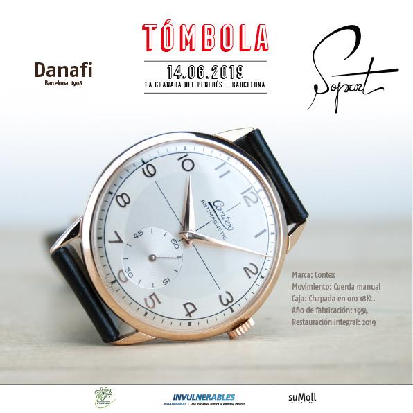 Danafi Watches — Gala solidaria SopArt -Invulnerables. Contex Anitmagnetic restauración y reparacion reloj chapado en oro